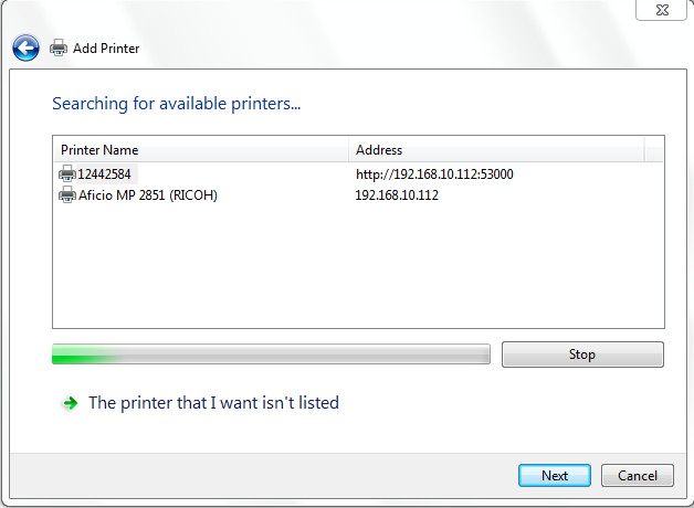 add a network printer